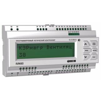 ПЛК63 контроллер с HMI для локальных систем в корпусе на DIN-рейку с AI/DI/DO/AO ОВЕН