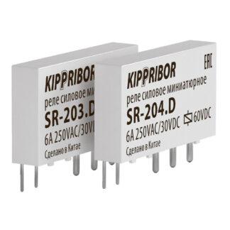 Промежуточные реле KIPPRIBOR серии SR интерфейсные в ультратонком корпусе (1-контактные) ОВЕН
